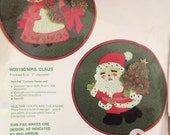 Crewel Embroidery Kit Bernat Mr. Claus Santa Claus Vintage