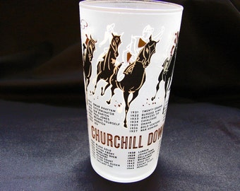 1960s Kentucky Derby Glass 1960 Kentucky Derby Mint Julep Glass
