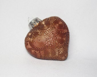 Gold Polymer Clay Ornament