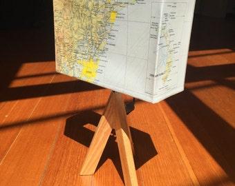 Sydney & NSW, Australia - UPCYCLED Maps - Repurposed Lamp