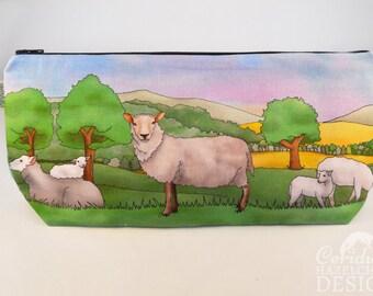 Sheep Toiletry Wash Bag / Makeup Bag / Pencil Case