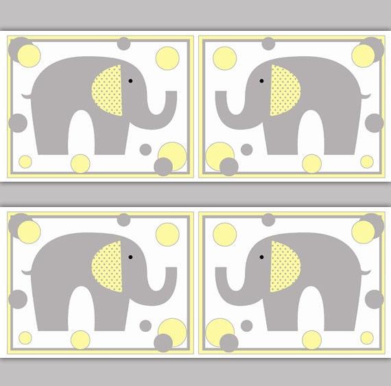 Elephant Nursery Decor Decals Wallpaper Border Grey Gray