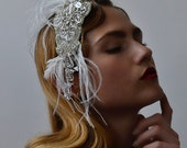 Silver Screen Siren Hair Comb - 1920s & 1930s inspired flapper hair comb, Gatsby, Art Deco, vintage inspired hair accessory