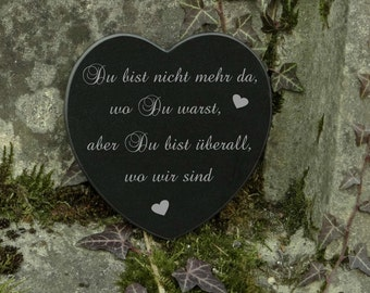 Tomb jewelry heart marble sadness saying engraving - tombstone - engraving