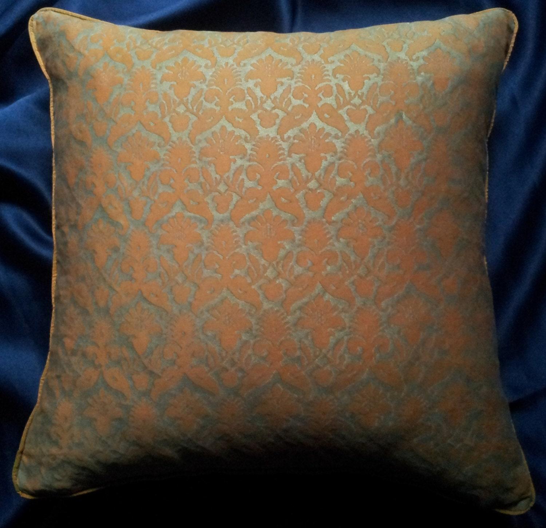 housse de coussin tissu fortuny throw pillow au melon. Black Bedroom Furniture Sets. Home Design Ideas