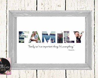 CUSTOM Family Photo Collage Print-family photography print- photo collage-family photo Collage Print- FAMILY is EVERYTHING
