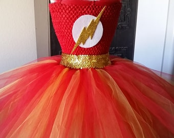 Flash Costume Tutu Dress with Mask