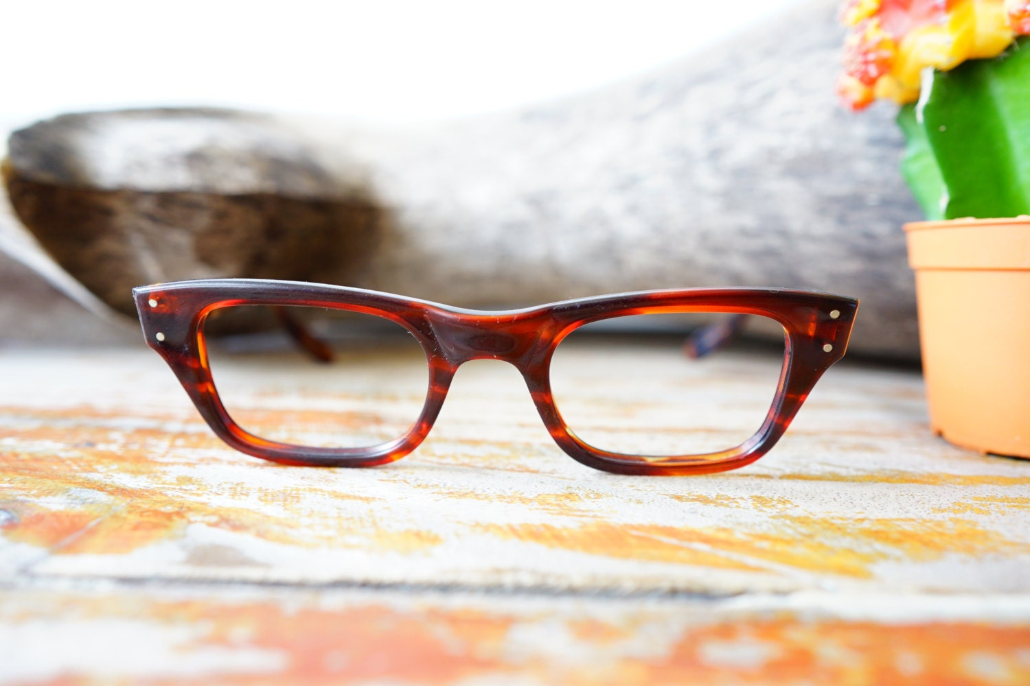 52947560ff Vintage Eyeglass 1950 s Frames By Bausch And Lomb Nos Made In Usa 46-22  Great