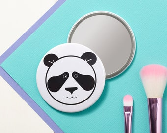 Panda Pocket Mirror - Small Mirror - Hand Mirror - Handbag Mirror