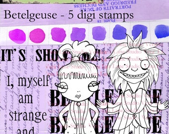 Betelgeuse - 5 image digi stamp set available for instant download
