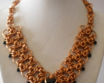 Filigree Byzantine Necklace in Copper