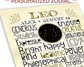 Personalized Zodiac Sign Print