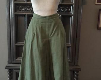 40s Vintage Spring Sage Green Culottes