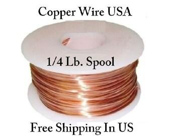 Copper Wire 99.9% Pure 1/4 lb Spool. (Sizes 10 Ga ~ 30 Ga ) Dead Soft Or Half Hard - Jewelry Making, Craft, Hobby Wire