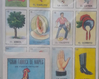 Vintage GALLO Lotería Autentica MEXICAN Bingo Card Game Set