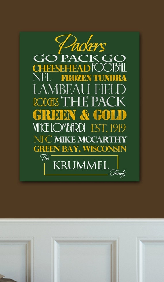 Green Bay Packers Print or Canvas