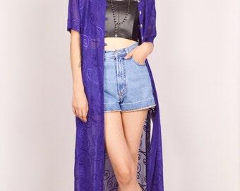 Sheer Duster Jacket Kimono Boho Gypsy
