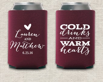 Cold Drinks and Warm Hearts - Wedding Can Cooler