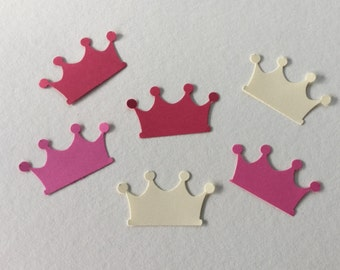 100 royal crowns in pinks and cream