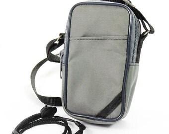 Vintage Universal Accessory Bundle Grey Compact Camera Carry Case & Wrist Strap