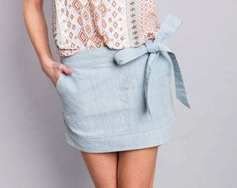 """hyacinth"" skirt, denim light"