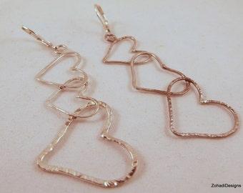 Dangling Hearts earrings