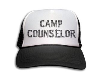 Trucker Cap - Camp Counselor Trucker Hat - Snapback Mesh Cap