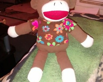 Dan Dee Collection Sock Monkey Soft Animal