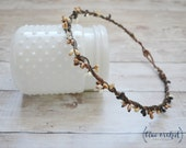Thin Berry Flower Crown with Neutral Berries and Grapevine, Wedding, Crown, Boho Hair Accessories