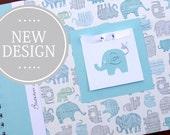 Boy Baby Book   Elephant Baby Book   Baby Memory Book   Personalized Baby Album   Blue Elephants Baby Book   Safari   Jungle   Circus