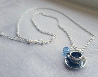 Alice In Wonderland Teacup Tea Time Necklace