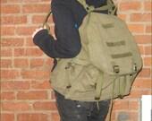 green military backpack