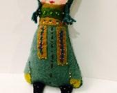 Owl Girl Plushie. Softie. Woodland Owl. Felt Doll.