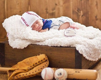Baby Baseball Hat, Newborn Baseball Hat, Newborn Photo Prop, Baby Boy Hats, Baseball Hat, Newborn Boy, Baby Boy Knit Hat, Knit Baseball Hat