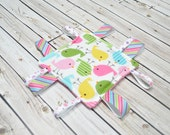 Tag Toy - Baby Sensory Toys - Baby Lovey Taggie - Crinkle Ribbon