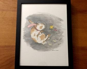Space Bunny - Print