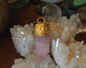 Lunar Love - Triple Goddess Rose Quartz Amulet