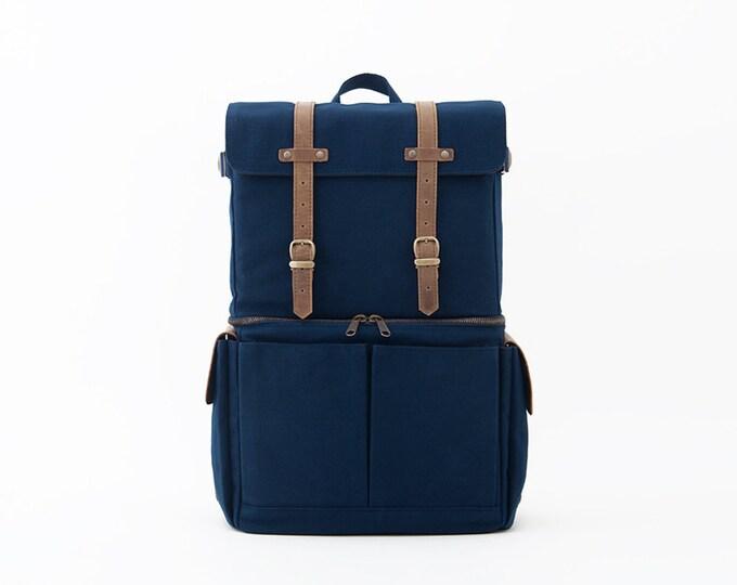 Journeyman Backpack / Camera Bag / Canvas Backpack / Laptop Backpack / Blue