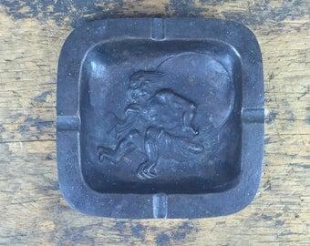 SALE Vintage Metal Devil Krumpus Ashtray
