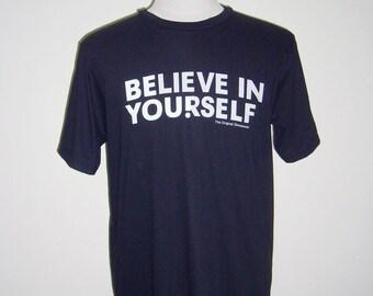 Believe In Yourself Tshirt Men Tshirt Tumbler Shirts Mens Gift Graphic Men Tees Birthday Gifts Tshirt for Friend Unisex Tee Men T-shirts
