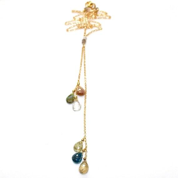 Mystic Gemstone Y Necklace