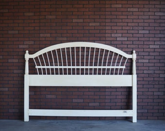 Headboard / King Headboard / Cal King Headboard / Wheatback Bed / Country French Headboard by Ethan Allen