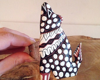 Funky Desert Coyote Cuff Bracelet Southwest Boho Style