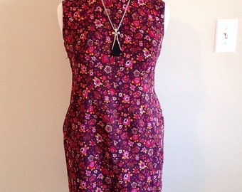 Vintage Asian Chinese Wiggle Dress Cheongsam Mid Century Custom Made Size XL Plus Size 12 to 14