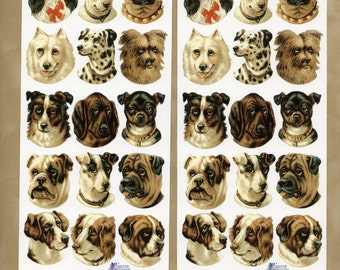 Victorian Dog STICKERS - Violette Stickers - Victorian Dogs Stickers - Dog Stickers - Dog Breed Stickers, Spaniel stickers, Pug Stickers