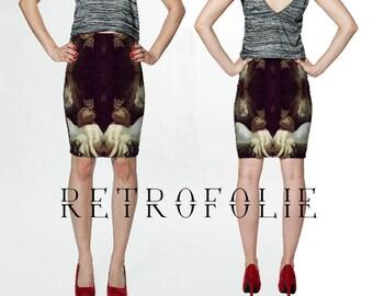 The Nightmare Skirt, Art History, Henry Fuseli, Horror  High Waisted Fitted pencil Skirt, RetroFolie clothing