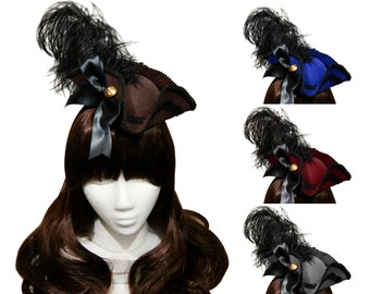 Elegant Mini Tricorn Pirate Hat - 9+ Colors Available - Made to Order