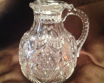 Antique EAPG Pennsylvania Pattern SYRUP ~ U.S. Glass Company ~ 1895