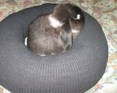 charcoal Ugli Donut bunny rabbit bed