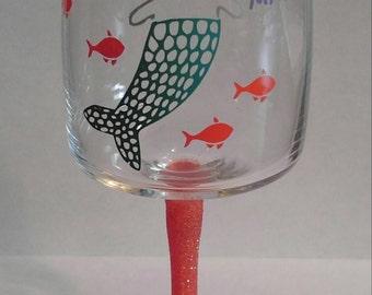Meow Maid Wine Glass